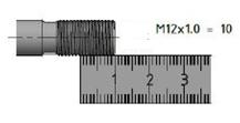 M12 x 1.0.
