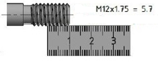 M12 x 1.75