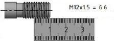 M12 x 1.5